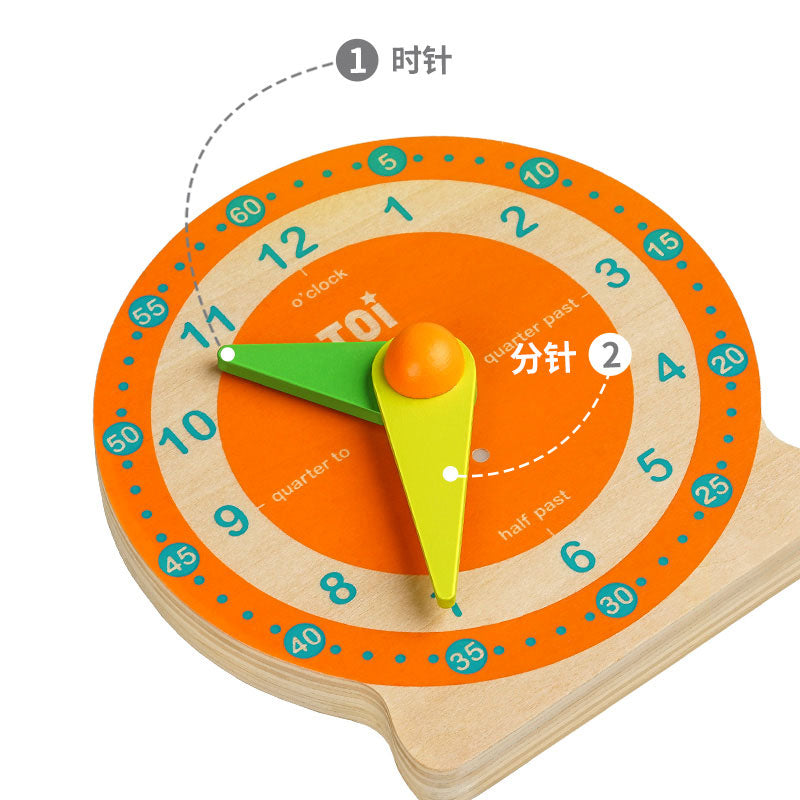 Kids can learn to read and tell the time independently