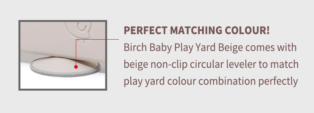 birch play yard comes with beige non slip leveler