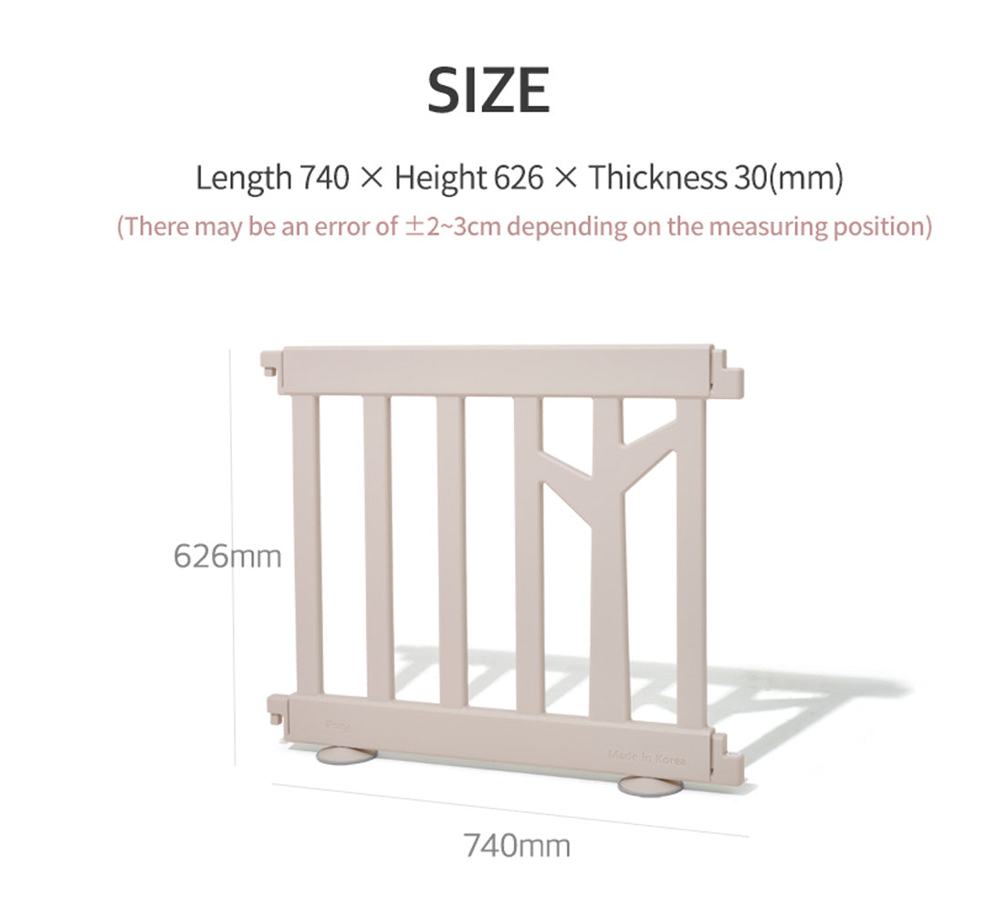 birch play yard panel size