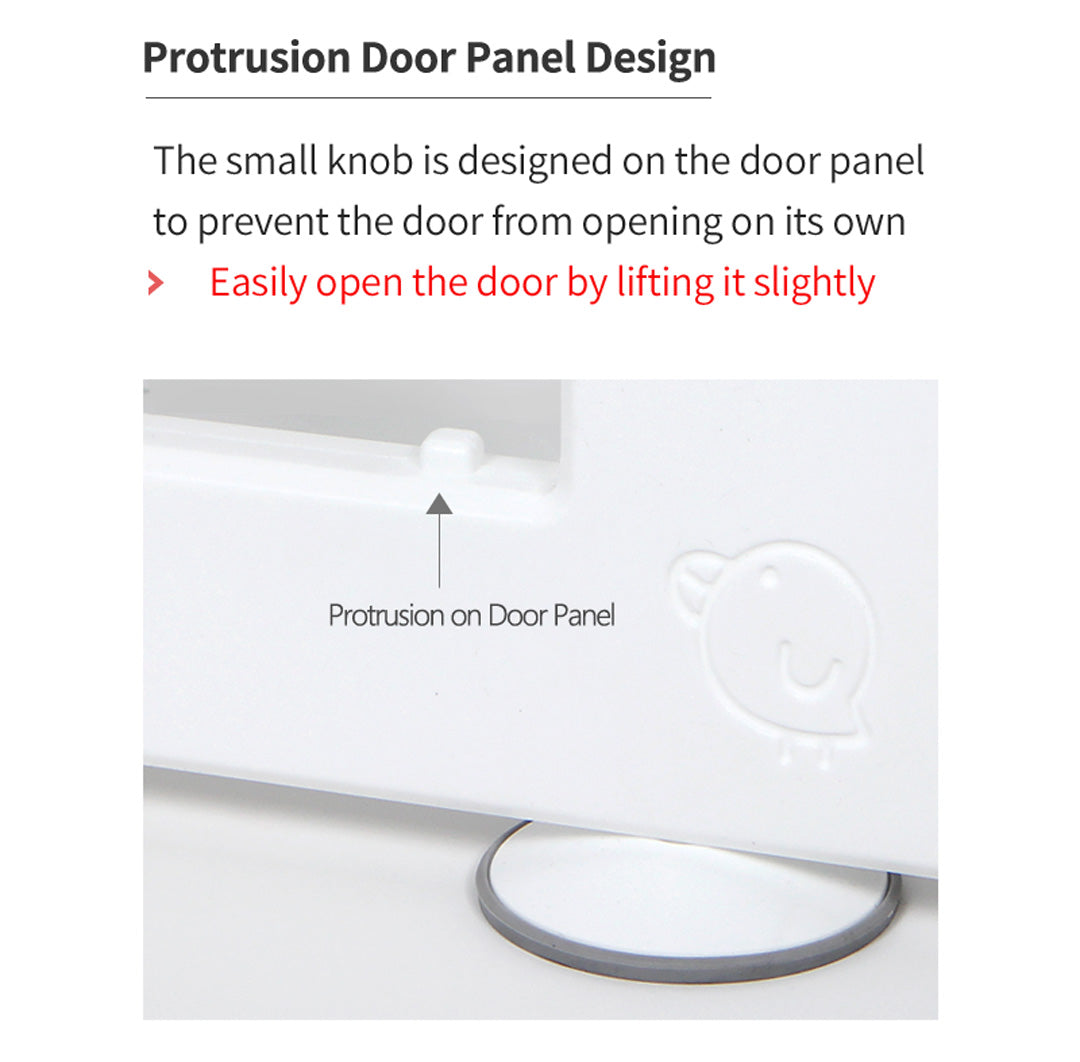 Play Yard Panel Protrusion Design To Prevent Door Open On Its Own