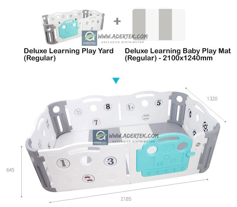 Deluxe Learning Baby Play Yard Dimension