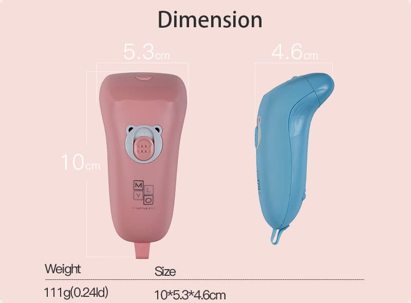 Dimension of MyLO Kid's Electrical Nail Clipper