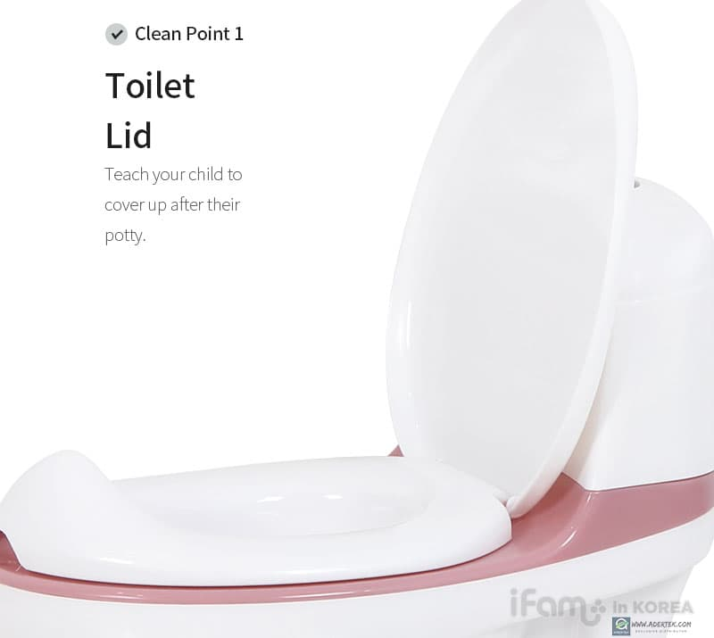 Come with lid to cover your toddler's potty!