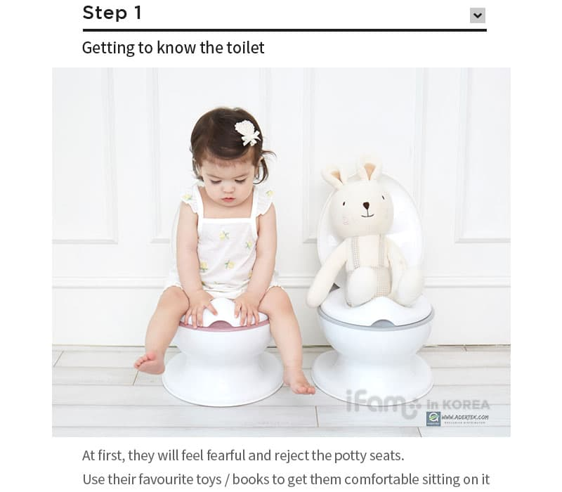 Step 1 - Introducing the potty seat to your toddler