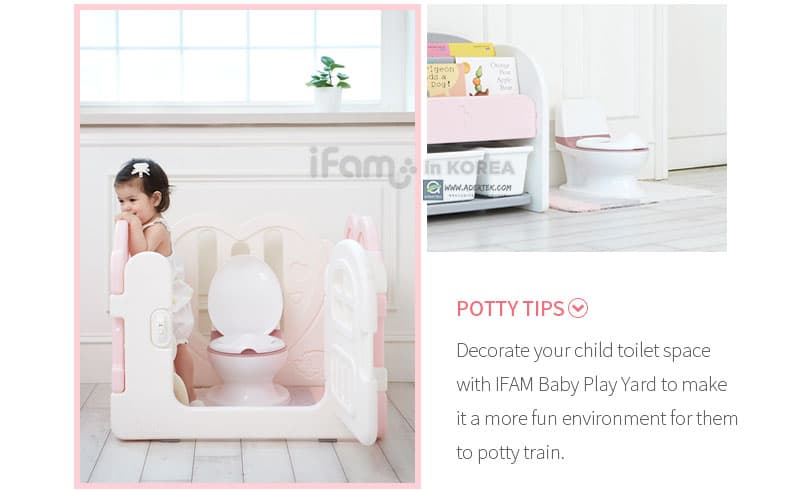 Decorate their potty area - a pleasant environment helps during potty training too!
