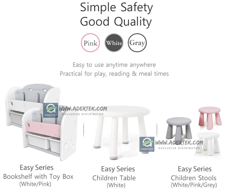 IFAM Easy Series for babies & toddlers - bookshelf, table and chairs