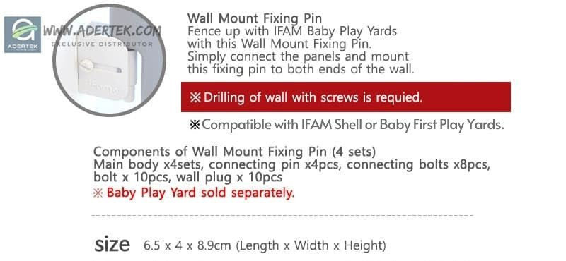 Wall mount fixing pin how to use