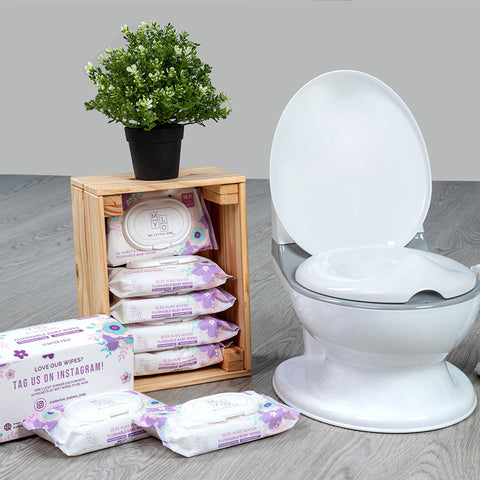 Easy Toddler Potty Traning and Flushable Wet Wipes best potty training buddy!