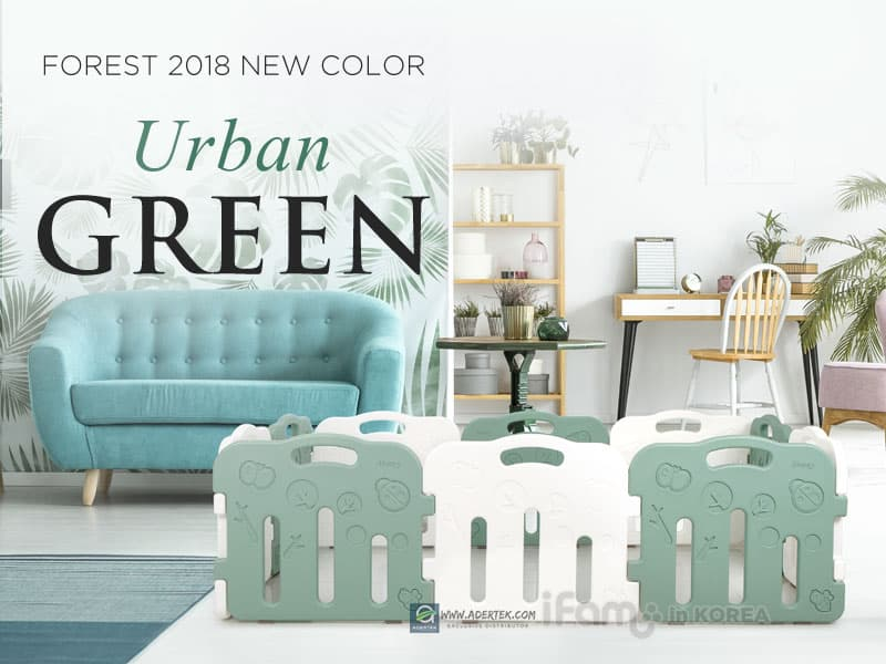 2018 latest colour - Urban Green + White