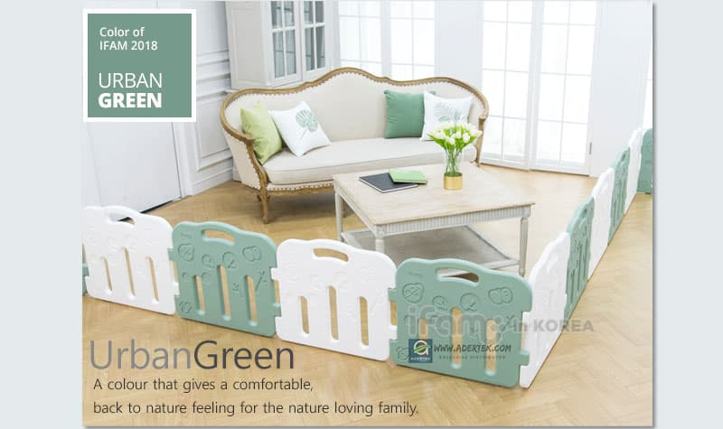 Urban Green brings a comfortable, back to nature colour into the home!