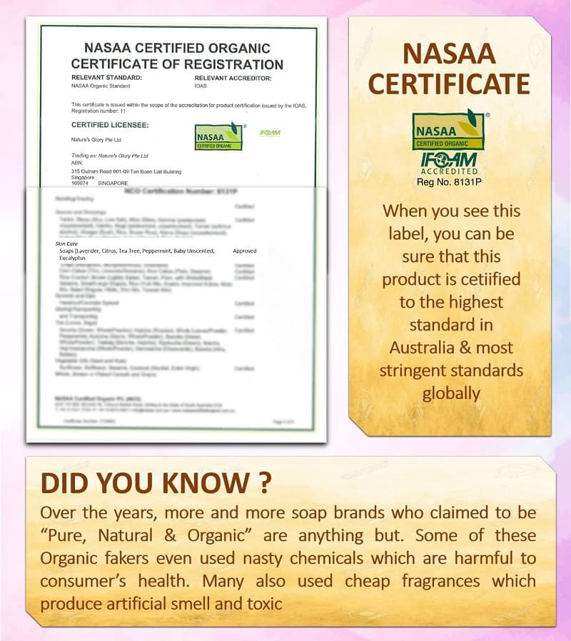 Highest level of Organic certification by NASAA