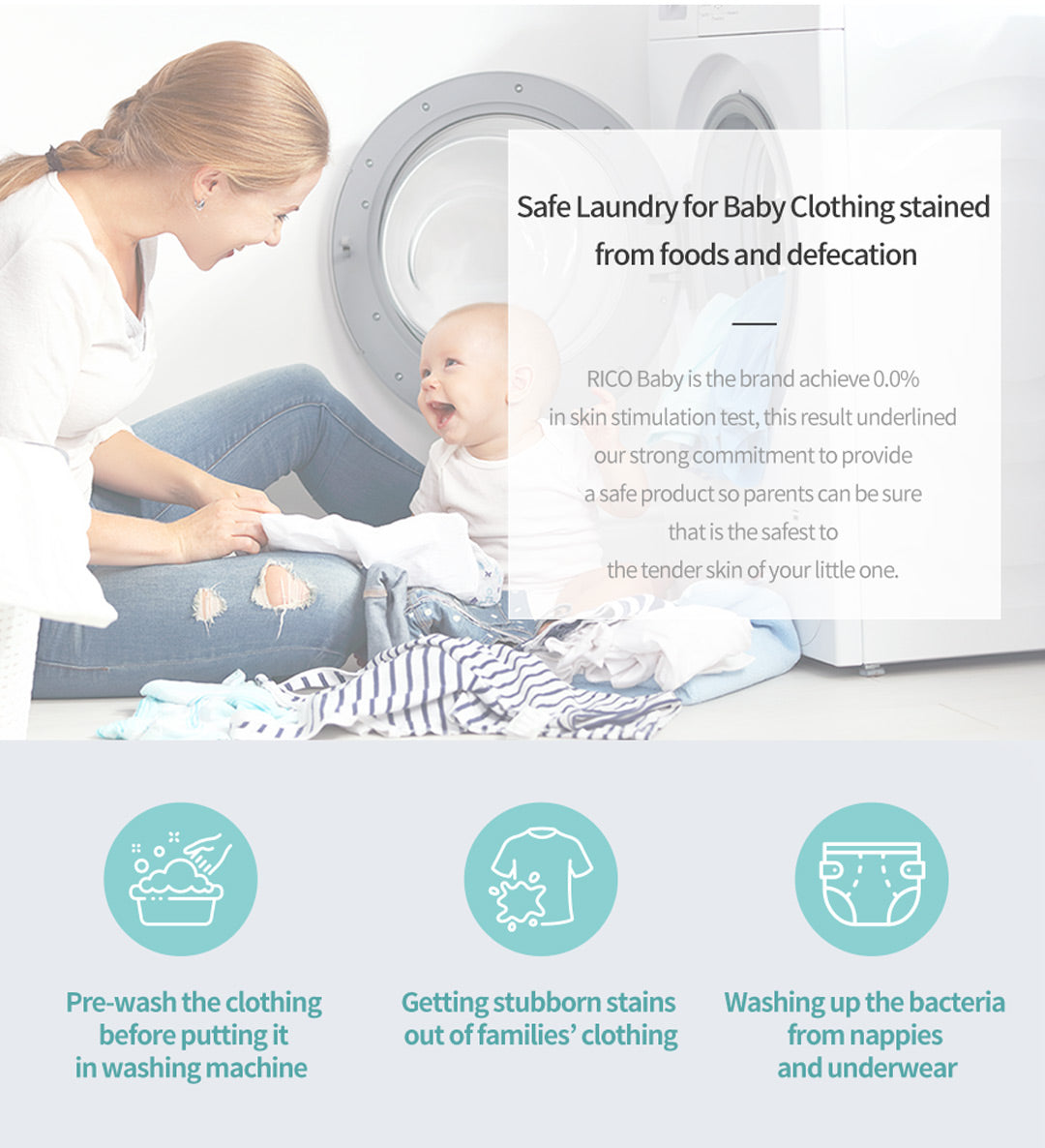 RICO Laundry Bar Soap - safe for babies and kids