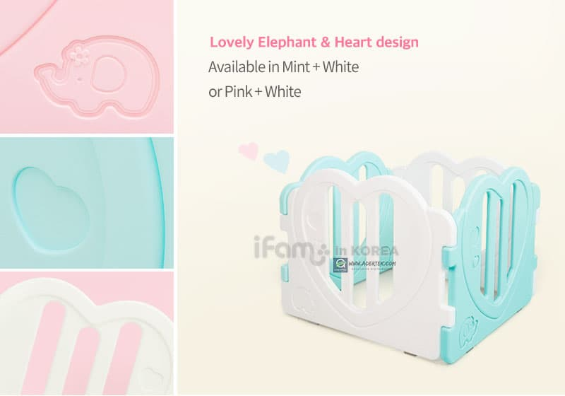 Lovely Heart shape & cute elephant design panels