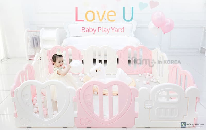Lovely Heart Shape Baby Play Yards