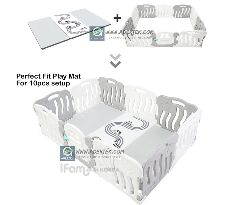 Perfect fit play mat for Shell & Forest Play Yard 10pcs setup