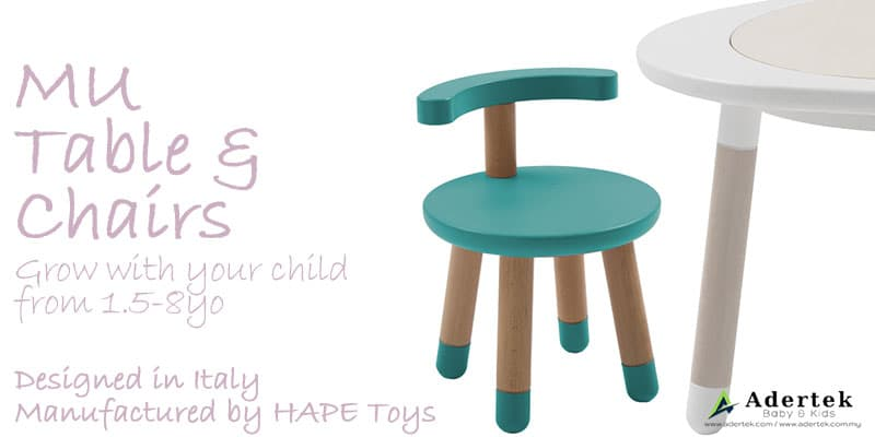 MUtable chairs grows with your child together with the MUtable set