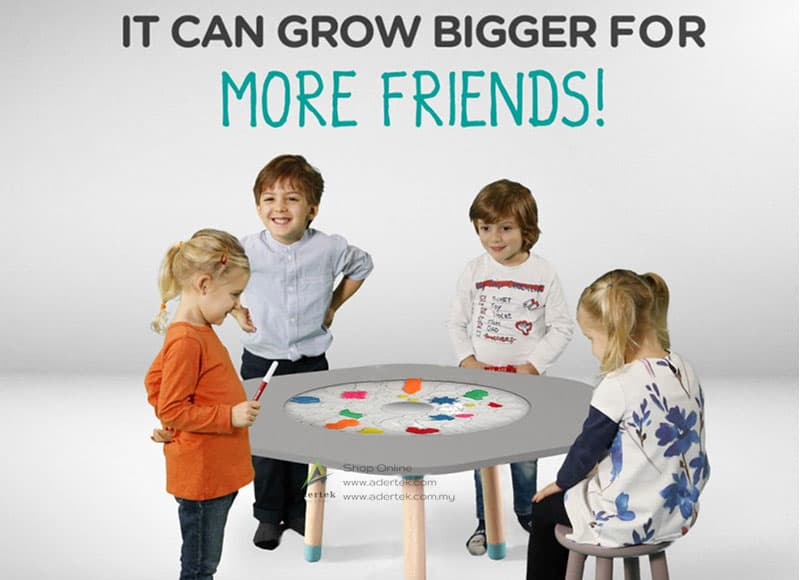 Expand your kids table to host more of their friends for a fun time