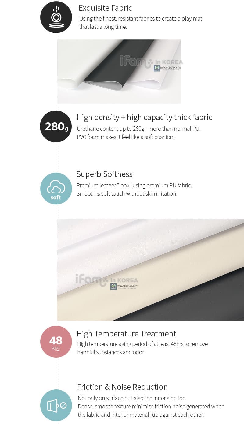 High density exquisite PU fabric for superb softness and excellent friction and noise reduction