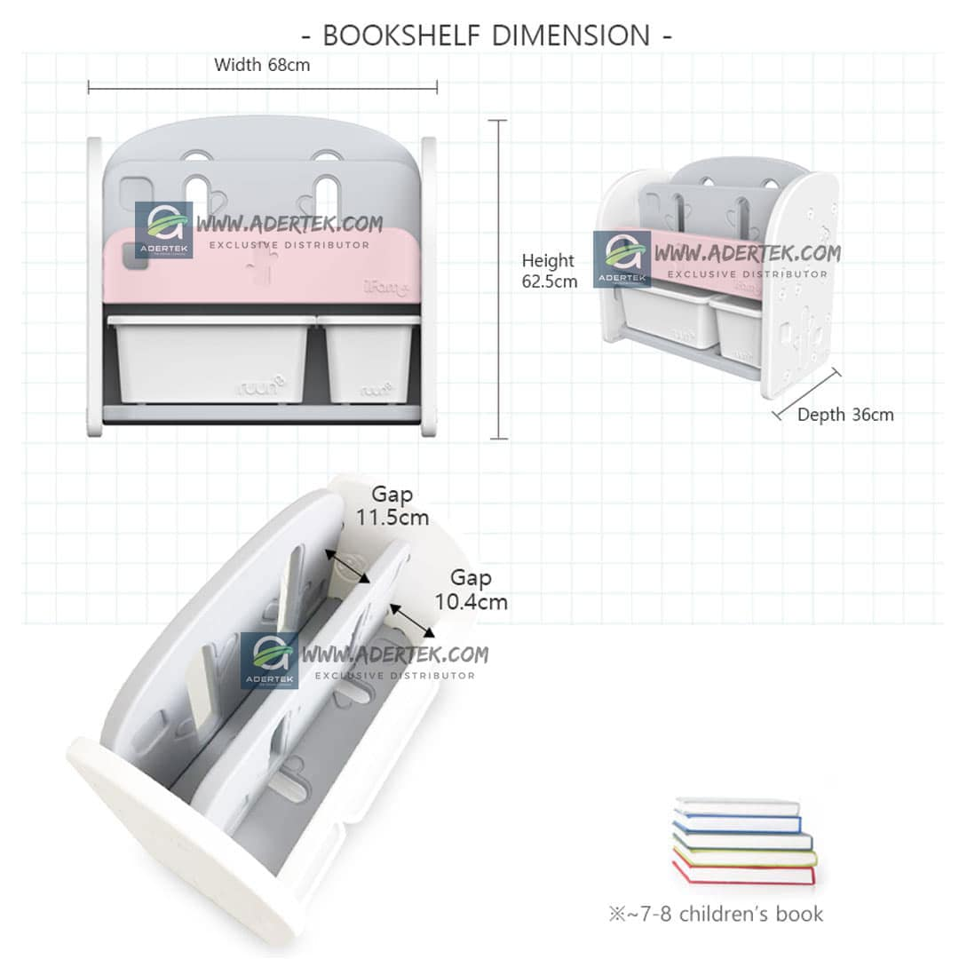Product Dimension of IFAM Easy Book Shelf