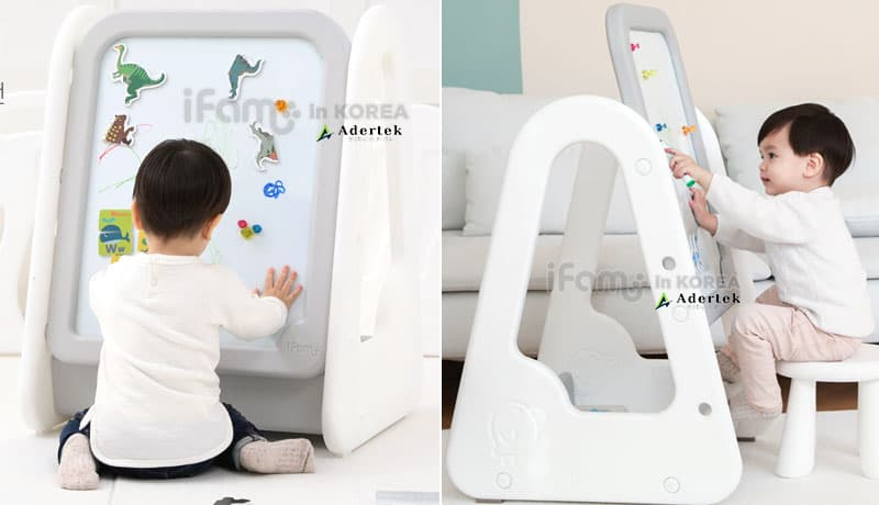 Whiteboard with adjustable height for kids of all ages