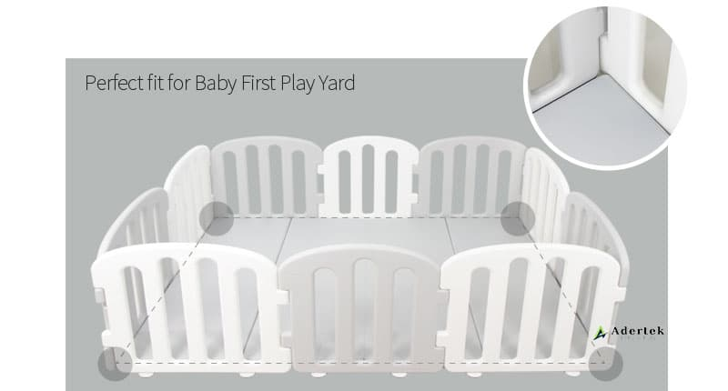 Perfect fitting play mat for IFAM play yard for maximum safety