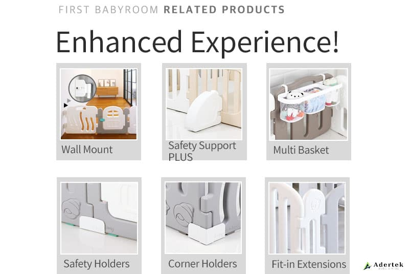 Optional accessories to enhance Baby FIRST Play Yard safety