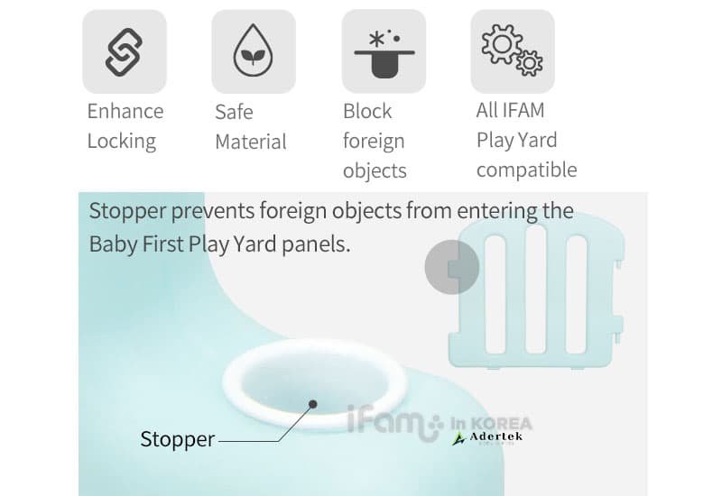 Prevent foreign objects from entering the baby play yard panels