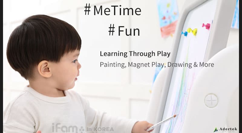 Learning through play with IFAM Magnetic Whiteboard