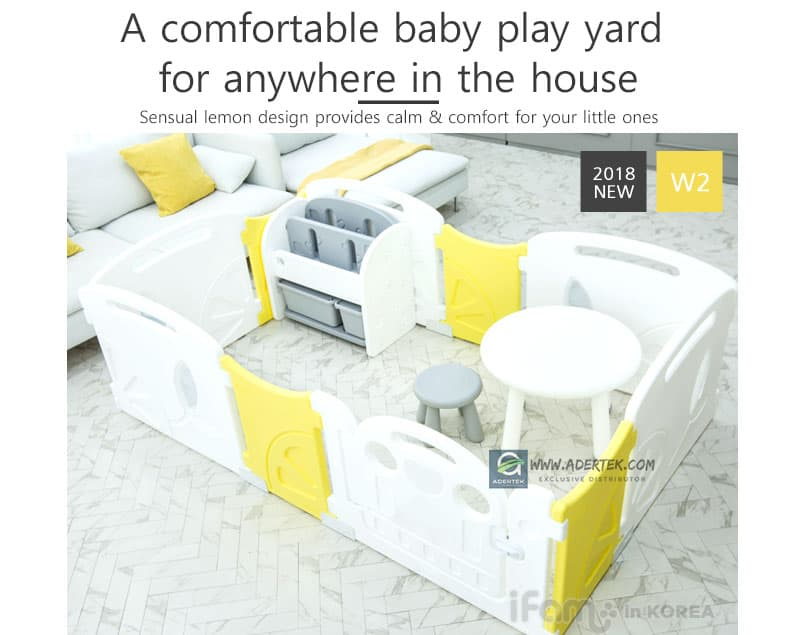 A baby furniture with sensual lemon yellow to fit anywhere inside your designer home.