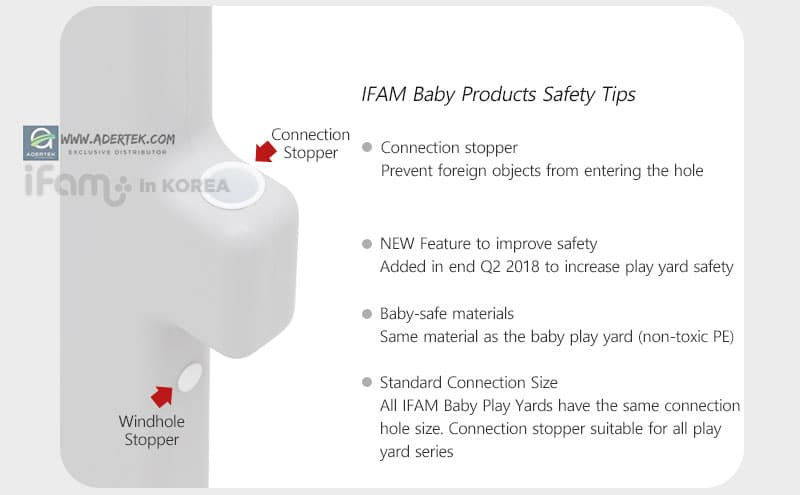 IFAM Lemon Baby Play Yard new safety design feature to keep baby safe