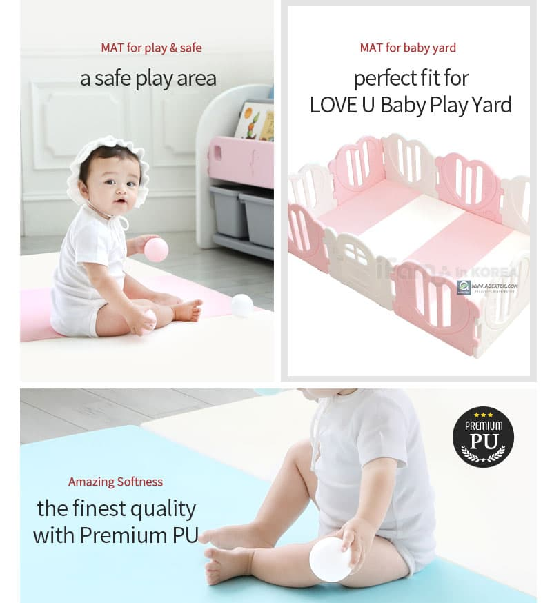 Perfect fit play mat for LOVE U baby play yard