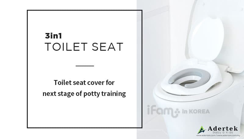 Toilet seat cover for adult toilet bowl