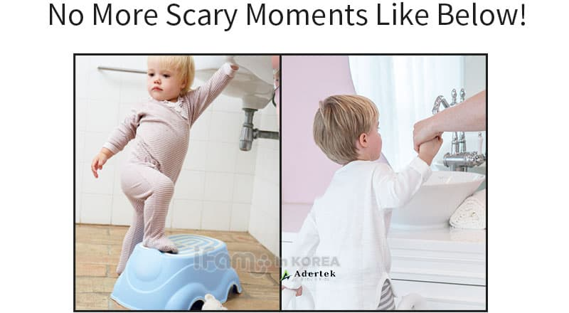 No more scary moments seeing your child use step stools without safety guard