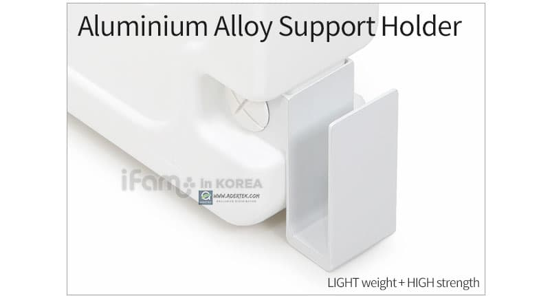 Made of light weight + high strength aluminium alloy materials for stronger support