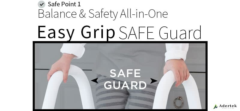 Safety side guard for better balancing support for kids