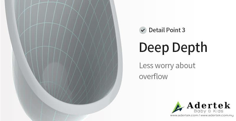 Deep container depth to prevent overflow