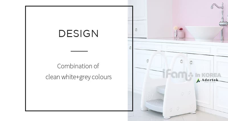 Clean white & grey shiny design perfect for all home