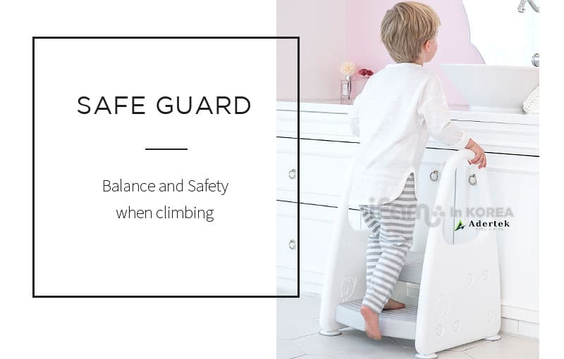 Comes with side safety support guard for peace of mind