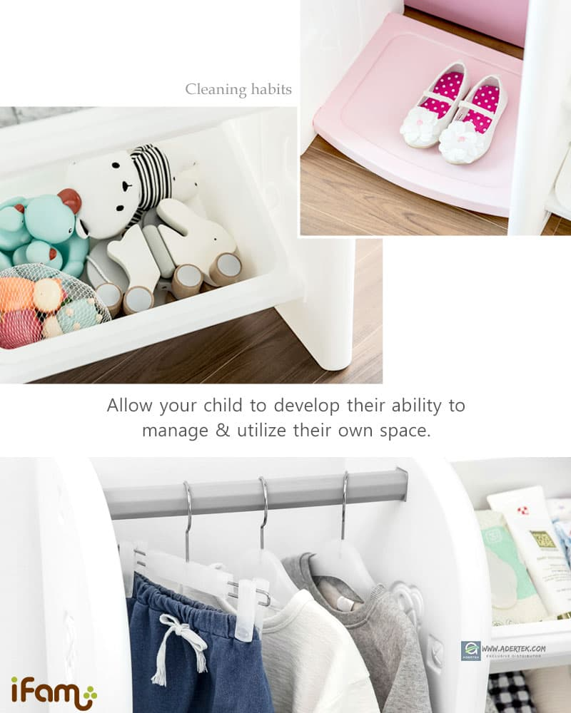 Develop your child ability to manage and utilize their own space for clothes storage.