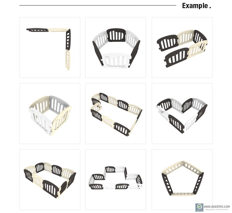 Natural Baby Play Yard allow for flexible assembly in any shape you want