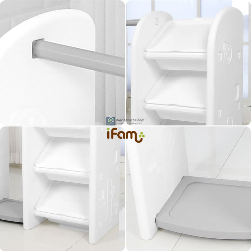 IFAM Easy Hanger Organizer comes with 1 hanger bar and 3 organizer box