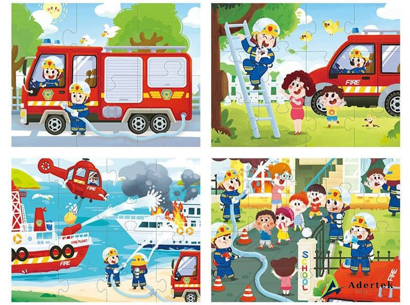 TOI Puzzles 4 in 1 Fireman Puzzle for Kids