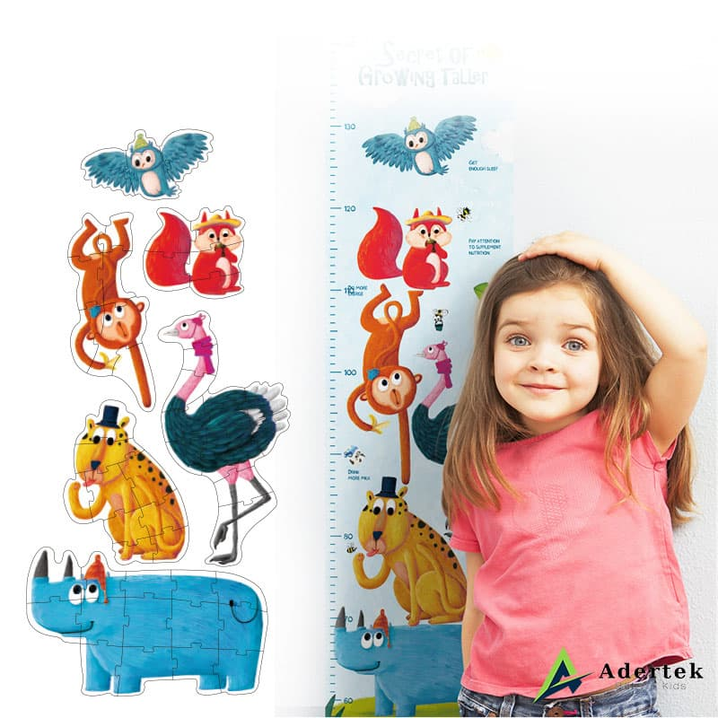 Animal Floor Puzzle and Height Chart