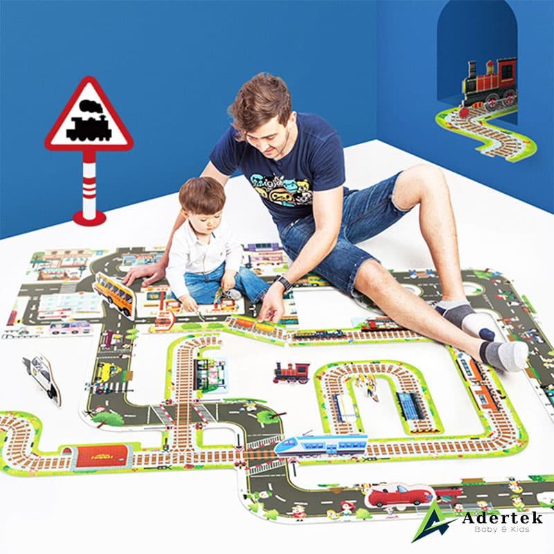 Giant Size Railway Track Floor Puzzle For Toddlers