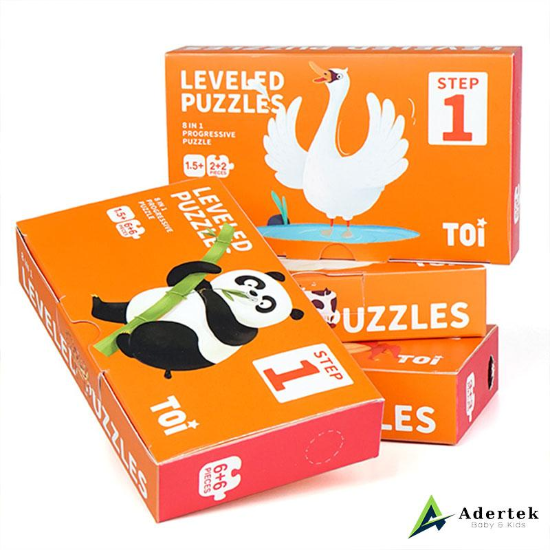 TOI Levered Puzzles Step 1: 8-in-1 Animal