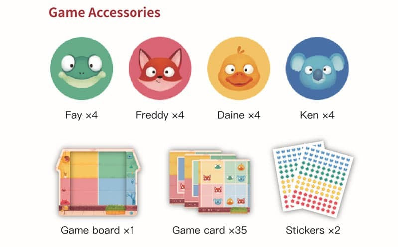 Magnetic Sudoku Animal Apartment Game Accessories
