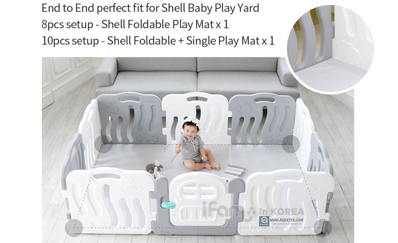 Shell perfect fit 10pcs play yard + play mat