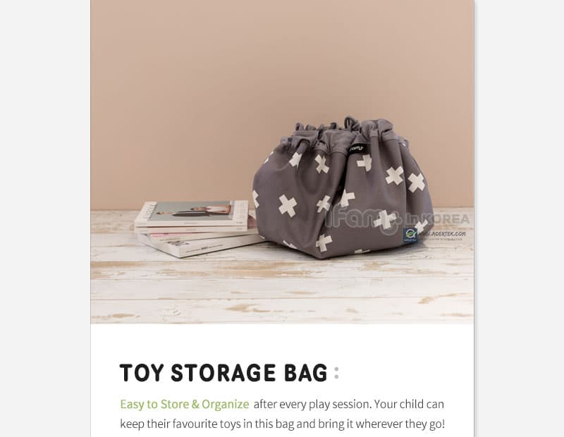 Portable Toy Storage Bag to keep all your child's favourite toys!