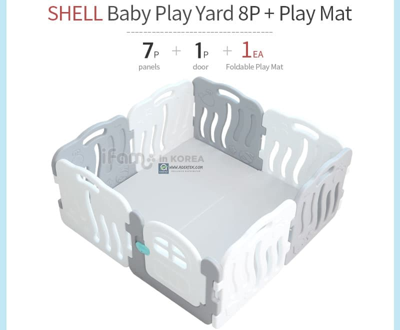Shell 8pcs + Shell Baby Play Mat configuration