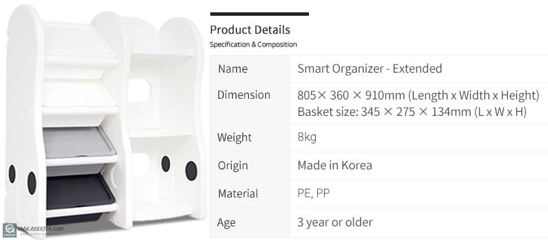 Details of Smart Compact Storage Organizer (Extended)
